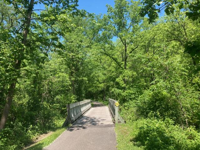 Bridge on the Cannon Valley Trail, John's favorite